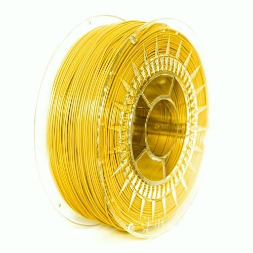 PET G 1.75 мм желтый пластик для 3D печати Devil Design (Польша)