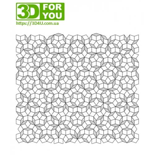 мозаїка Пенроуза (трафарет для 3D ручки)