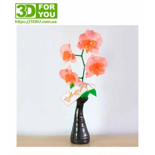 Орхидея (трафарет для 3D ручки)