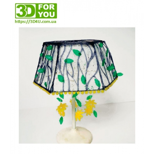 Квітковий абажур (трафарет для 3D ручки)