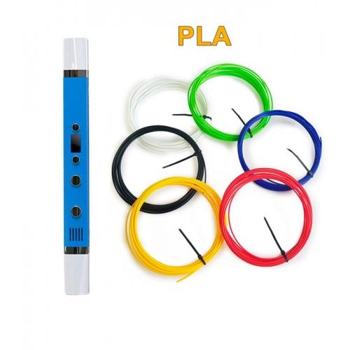 3D-Ручка MyRiwell RP-100C + 30 м PLA (6 кольорів). Набір START.