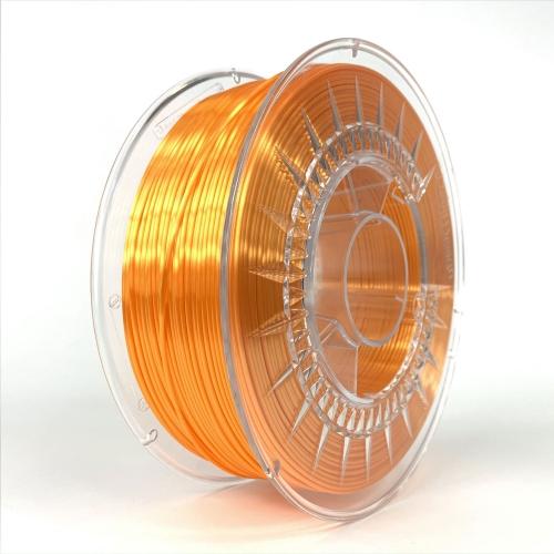 PLA SILK пластик для 3D-принтера 1.75 ярко-оранжевый Devil Design